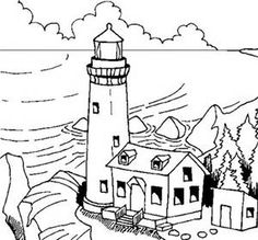 lighthouse coloring pages for adults bing images