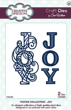 Creative Expressions Sue Wilson Die -Festive Collection - Joy - CED3003