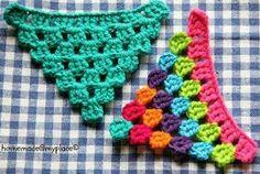 . Crochet Garland, Crochet Diy, Crochet Home, Love Crochet, Crochet Motif, Crochet Crafts, Crochet Stitches, Crochet Projects, Crochet Patterns