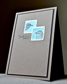 Stampin' Up ideas and supplies from Vicky at Crafting Clare's Paper Moments: Postage Stamp punch male card