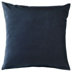 kussens banking IKEA - SANELA, Cushion cover, dark blue, Cotton velvet gives depth to the color and is soft to the touch. The zipper makes the cover easy to remove. Sofa Pillow Covers, Cushions On Sofa, Throw Pillows, Recycling Facility, Sleeper Sectional, Room Darkening Curtains, Kallax, Velvet Cushions, Blue Cushions