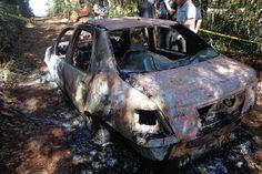 Paraná, três corpos são encontrado carbonizados dentro de carro