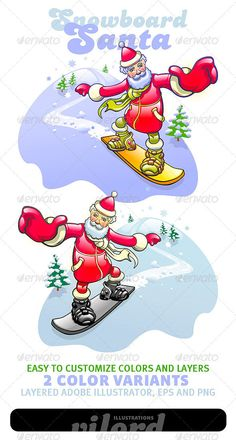 Realistic Graphic DOWNLOAD (.ai, .psd) :: http://jquery-css.de/pinterest-itmid-1000889709i.html ... Santa Mascot ...  character, christmas, funny, mascot, santa, snow, snowboard, winter  ... Realistic Photo Graphic Print Obejct Business Web Elements Illustration Design Templates ... DOWNLOAD :: http://jquery-css.de/pinterest-itmid-1000889709i.html