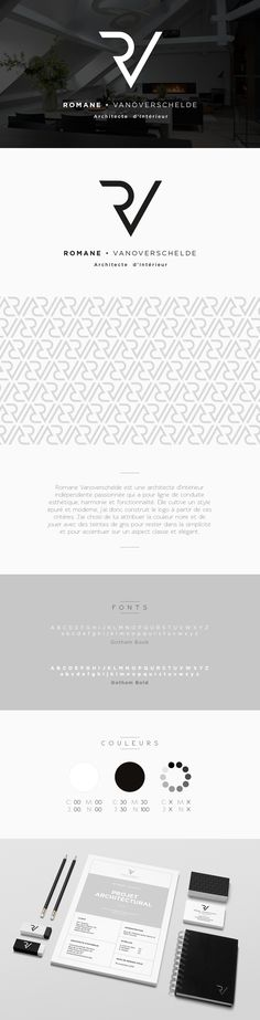Romane • Architecte d'Intérieur on Behance #design #graphic #logo #monogram #cartouche #architect #architecte #interior #interieur #identity #branding #corporate #black #minimalist #elegant #simple #corporate #modern #pattern #texture #grey #typography #épuré #classe #gris #triangle #simplicity #plainness #sobriété #sobre