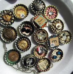 Altered Bottle caps-Jeanette Janson