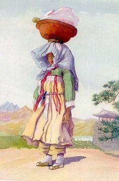 함흥의 아낙네 Elizabeth Keith, 1887-1956--paintings of old Korea