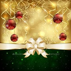 Background with Baubles