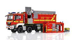 LEGO MAN TGS Hooklift Truck 8x8 - Wechselladerfahrzeug mit Abrollbehälter HFS | von Niklas-B
