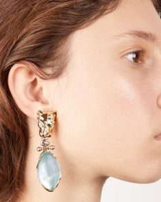 Alexis Bittar Panther Head, Lucite & Crystal Clip-On Drop Earrings - Gold/Multi Black Hair Tips, Earrings Online, Gold Drop Earrings, Alexis Bittar, Hair Hacks, Panther, Jewelry Accessories, Jewels, Crystals
