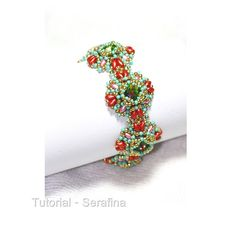 Tutorial Serafina Bracelet and Earrings by bybeejang on Etsy, $8.50 Swarovski Rivoli 12mm - Superduo 2.5 x 5mm. (Two colors) - Czech fire polished round 4mm. - 11/0 Miyuki Rocailles seed beads (Two colors) - 15/0 Miyuki Rocailles seed beads - Czech drop 6x9mm.