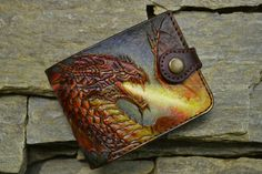 "leather wallet ""The Dragon"""