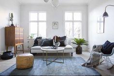 Sinistä sisustuksessa Floor Chair, Flooring, Furniture, Industrial, Home Decor, Boho, Inspiration, Ideas, Photo Illustration