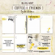 Free Coffee and Friends Journal Cards from Lydia Designs | Oscraps Black Friday Blog Hop