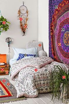 Decorando quarto hippie