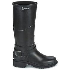 Aigle MACADAMES Noir - Livraison Gratuite avec Spartoo.com ! - Chaussures Bottes de pluie Femme 108,00 €