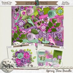 Spring Time Bundle- great kit for scrapping Easter or Springtime photos!