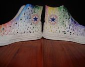 Paint Drip Hand Painted Converse High Tops