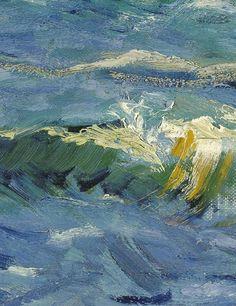 Vincent van Gogh [DutchPost-ImpressionistPainter, 1853-1890] Seascape near Les Saintes-Maries-de-la-Mer(detail), 1888 oil on canvas