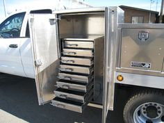 Backpack tool boxes built by Highway Products give extra storage to your truck. & Custom Made Trailer Tool Boxes | Toolbox_small | Welding rigs ...