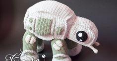 Krawka: AT-AT walker star wars crochet pattern by Krawka, imperium, vader, stormtrooper, force awakening, rogue one, yoda, r2d2,