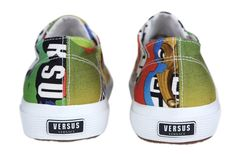 Versus Versace has joined forces with Superga - which, if you ask us, is a match made in Italian brands-heaven. Superga Shoes, Versus Versace, Collaboration, Trainers, Baby Shoes, Sneakers, Glamour, Collection, Fashion
