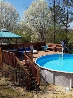 Above Ground Pools are the most effective alternative for resident who want a swimming pool however aren't ready for the much more costly choice of putting in an in-ground pool. Above Ground Pool Decks, Above Ground Swimming Pools, In Ground Pools, Pool Heater, Building A Pool, Swimming Pools Backyard, Decks And Porches, Cool Pools, Outdoor Entertaining
