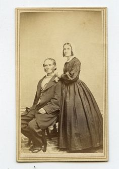 CDV Card Vintage Photo Civil War Era Older Couple Cincinnati Oh | eBay