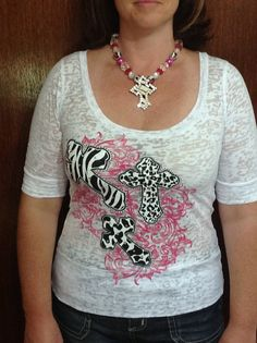 Rhinestone Burnout Blouse w/3 animal design by TheresasCreationsBq, $28.95
