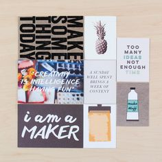 Maker Card Set by Life.Love.Paper at @studio_calico