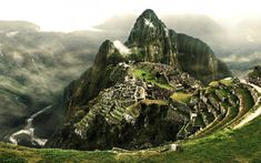 Ruins on a top of a mountain - Free Image Download - High Resolution Wallpaper