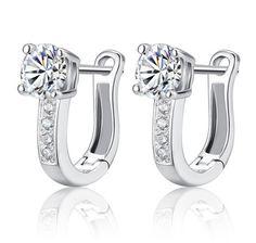 2015 High Quality Fine Jewelry Luxury Silver Earrings U Type Big and Small CZ Diamond Stud Earrings For Women brincos E175♦️ B E S T Online Marketplace - SaleVenue ♦️👉🏿 http://www.salevenue.co.uk/products/2015-high-quality-fine-jewelry-luxury-silver-earrings-u-type-big-and-small-cz-diamond-stud-earrings-for-women-brincos-e175/ US $1.63