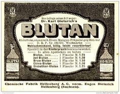 Original-Werbung/ Anzeige 1910 - DR. KARL DIETERICH'S BLUTAN - HELFENBERG…