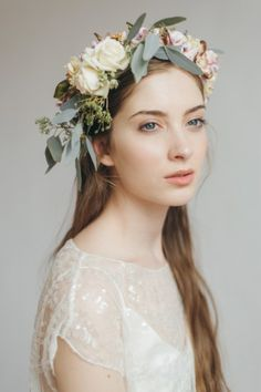 Ethereal and elegant floral bridal crown, via The White Closet bridal boutique, Didsbury, Manchester.