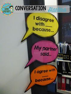 Conversation Starters, Turn and Talk, FREEBIE, Miss Jacobs' Little Learners