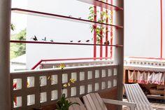 #arquitetura #architecture #decoração #decor #varanda #cozinha #pergola #pergolado #brise #tijolinhos #cobogo