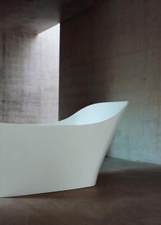 For a contemporary bathroom look to the clean cut minimalist lines of our Nebbia bath | Clearwater Bathrooms http://www.clearwaterbaths.com/Products/ProductDetail?prodId=7796&name=Nebbia%20natural%20stone%20bath