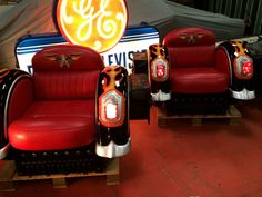 Harley Davidson Style Motorcycle Retro Chairs Sidecar *With Lights* Retro Chairs, Barber Chair, Sidecar, Jukebox, Harley Davidson, Motorcycle, Lights, Living Room, Ebay
