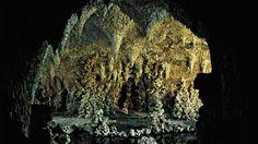 Grotte de cristal à Painshill Park, Cobham, Surrey (Angleterre), 1760.