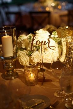 Table Numbers / Table Decor / Spring Wedding / White and Gold wedding / Bliss Weddings & Events