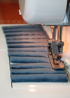 Fabric tubes, another slashed sleeve method.