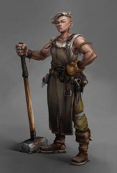 ArtStation - Blacksmith girl, Avetino .
