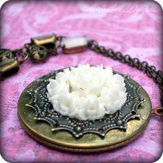 Uptown Girl: extra long vintage brass oversize layered locket necklace