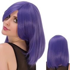 Fashion Straight Medium Side Bang Violet Film Character Cosplay Wig #jewelry, #women, #men, #hats, #watches, #belts, #fashion