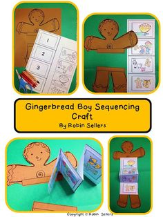 Gingerbread man sequencing craft