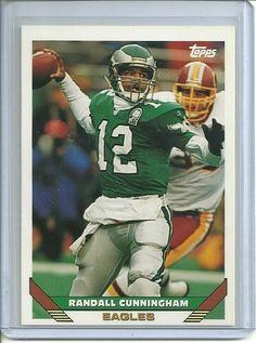 1993 Topps #525 Randall Cunningham Philadelphia Eagles NFL Card #PhiladelphiaEagles