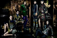 Smile: Ad Campaign: Etro F/W 13.14: Andres Risso, Aymeline Valade, Elisabeth Erm, Nan Fulong, Sung Hee Kim & Ton Heukels by Mario Testino