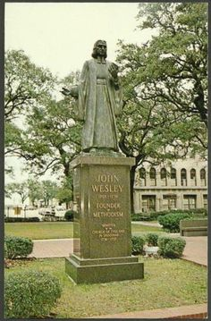 John Wesley Monument Savannah Georgia Methodist Scenes by Bill Holt   eBay
