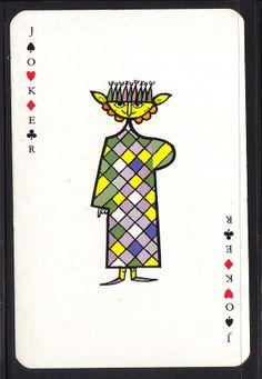 JOKER , JESTER , VINTAGE PLAYING CARD, LOT No. 203