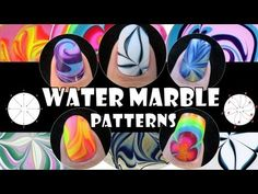 WATER MARBLE PATTERNS - Nail Art Design Tutorial Beginner Easy Simple manicure meliney video