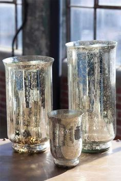 How to Create Mercury Glass - using thrifted glassware - video tutorial - via Vintage Fragment